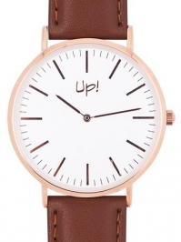 Up! Watch Up! Watch Rose Gold & Brown Slim Case Saat