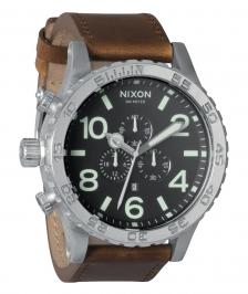 Nixon A124-1037 - Nixon 51-30 Chrono Leather Black/saddle