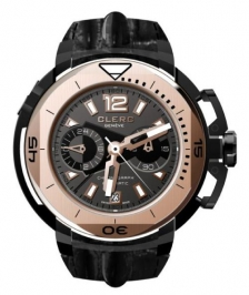 Clerc CHY-353 Hydroscaph Central Chronograph