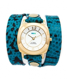 La Mer Collection Aqua Blue Snake Saat