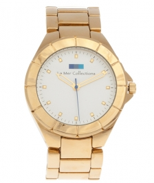 La Mer Collection Gold White Dial Saat