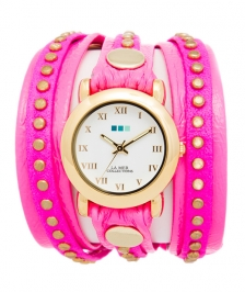 La Mer Collection Neon Pembe Circle Saat