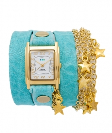 La Mer Collection Opal Blue Wash Star Charm Saat