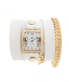 La Mer Collection White Gold Glam Saat