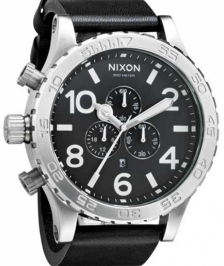 Nixon A124-000 - Nixon 51-30 Chrono Leather Black - A124