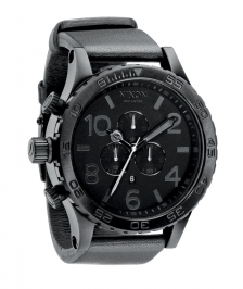 Nixon A124-001 - Nixon 51-30 Chrono Leather All Black - A