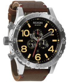 Nixon A124-019 - Nixon 51-30 Chrono Leather Black / Brown