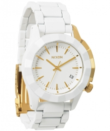 Nixon A288-1035 - Nixon Monarch All White / Gold - A288 10