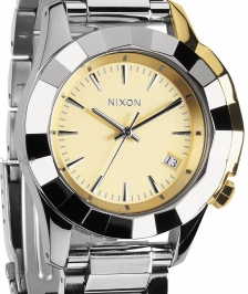Nixon A288-1431 - Nixon Monarch Silver / Light Gold - A288