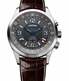 Vulcain 100133.211LF Aviator Dual Time-steel